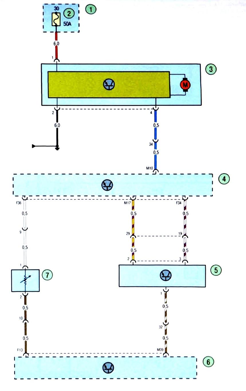Схема системы кондиционирования форд фокус