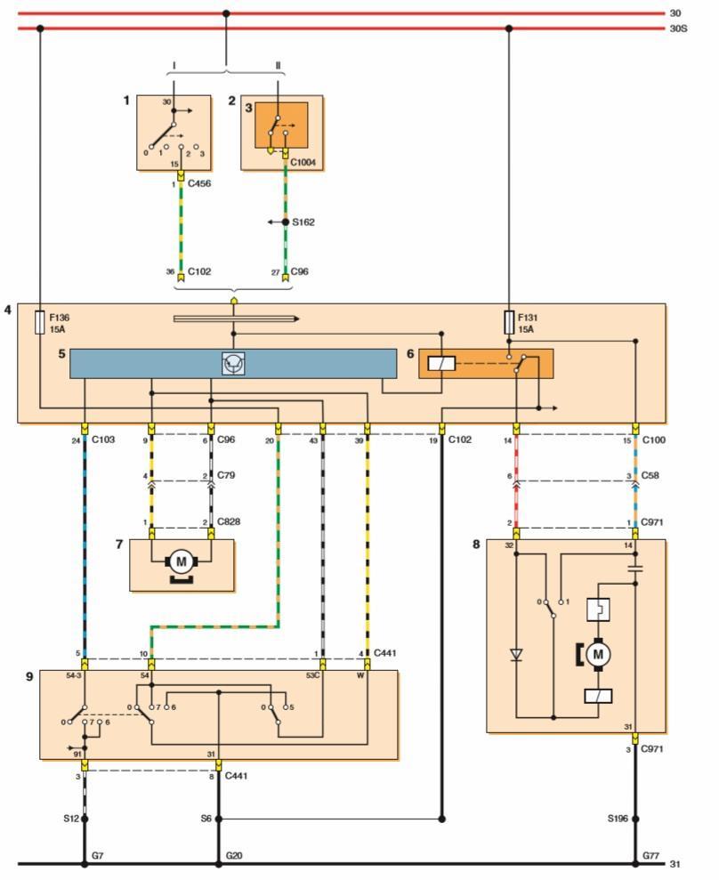 Форд фокус 2 схема электрооборудования багажника