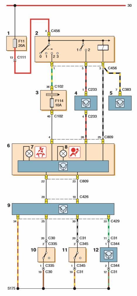 1 — монтажный блок в моторном