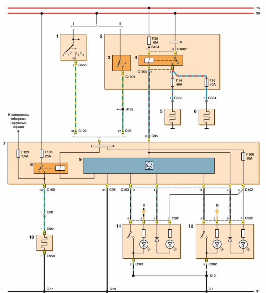 Схема проводов на форд фокус 3