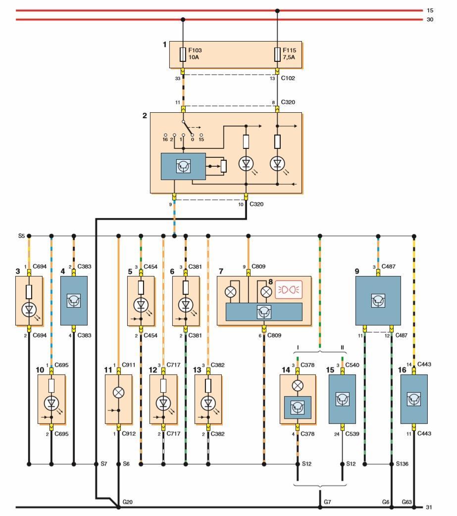 электрическая схема системы управления климатконтролем audi a6