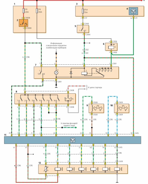 Электрическая схема акпп тойота