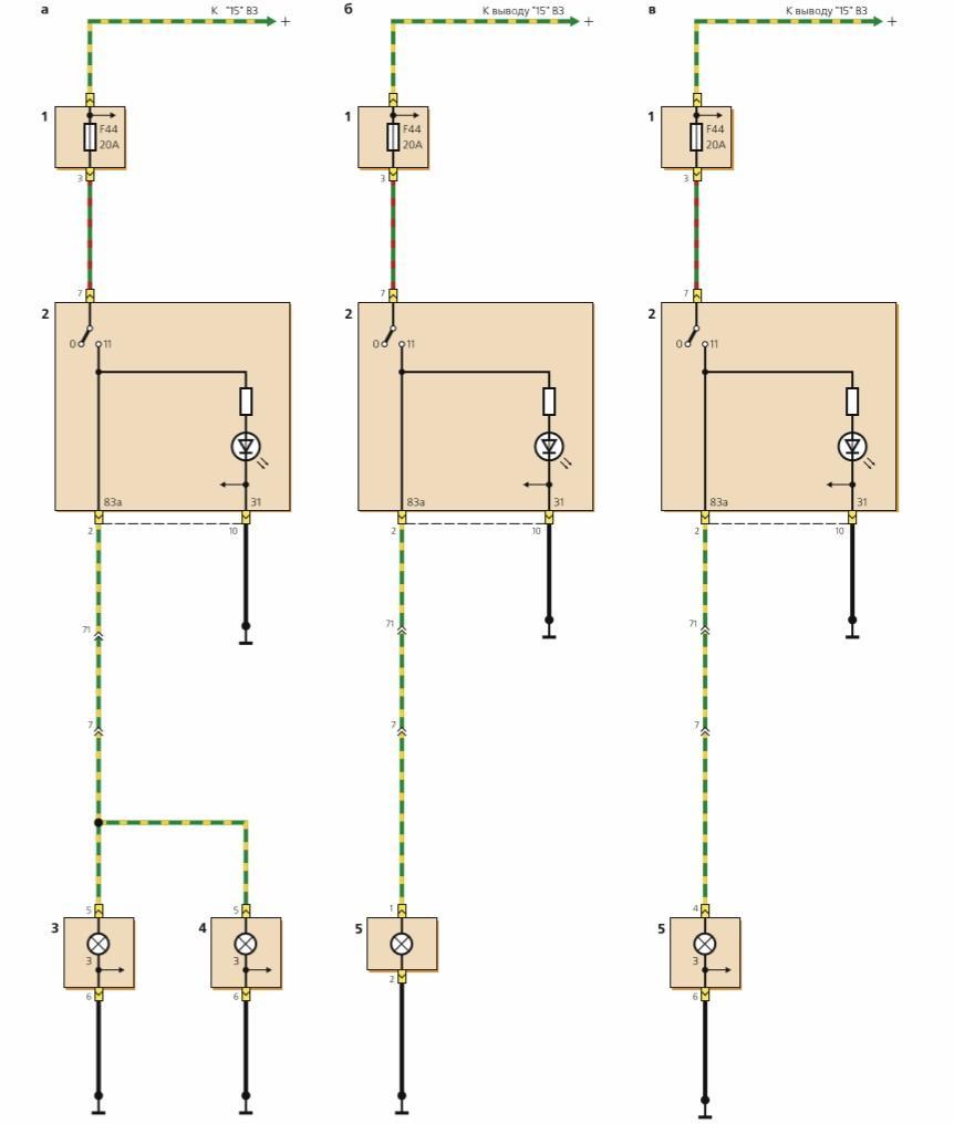 Схема подключения противотуманных фар на форд фокус 2