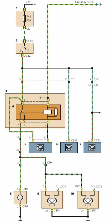 1 — основной монтажный блок (в