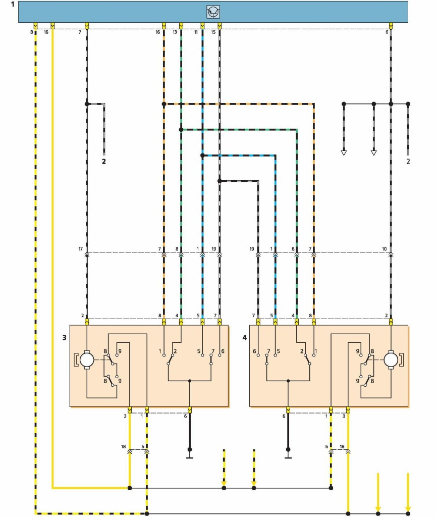 Mondeo схема центральный замок