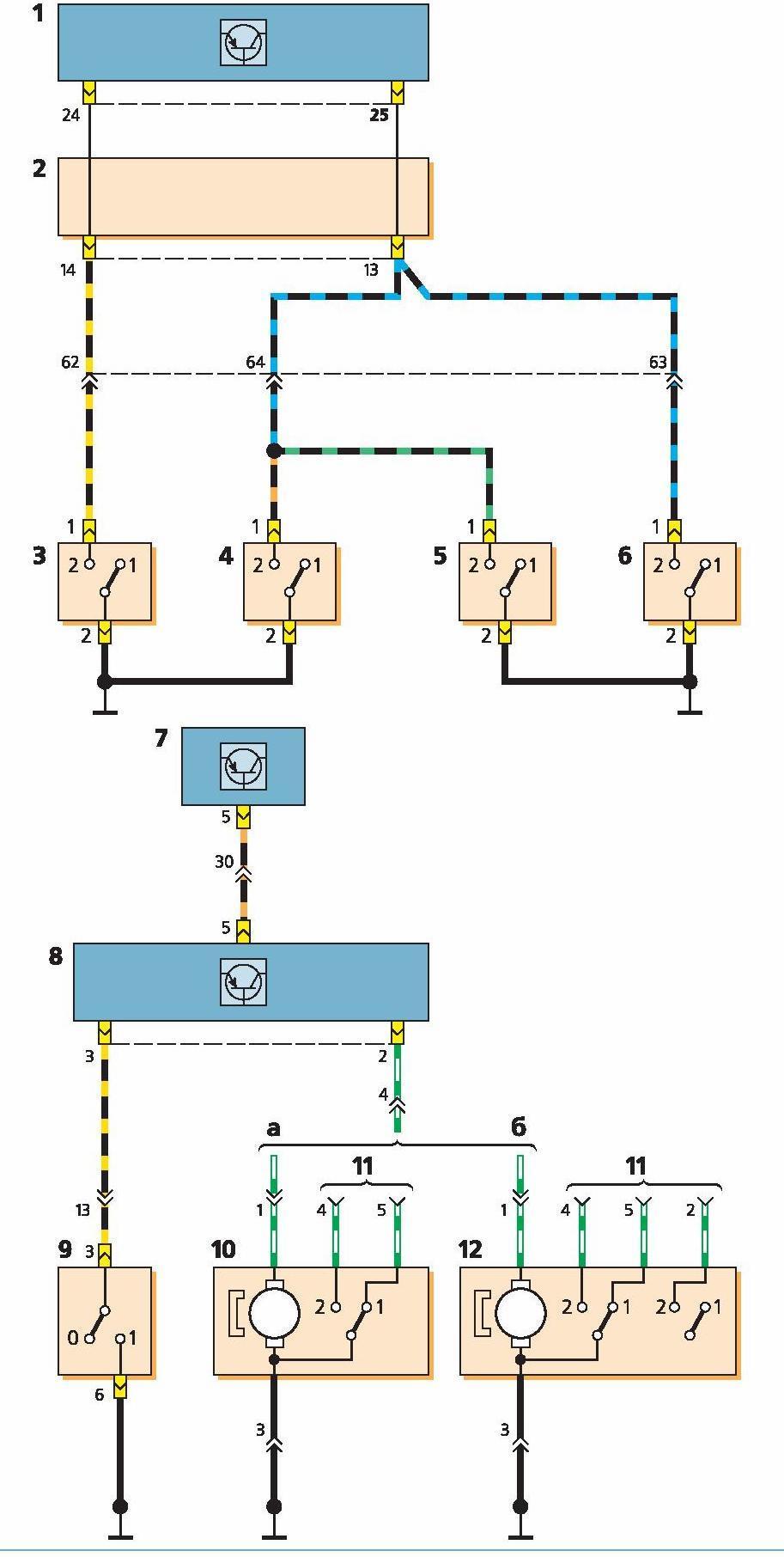 Центральный замок схема подключение