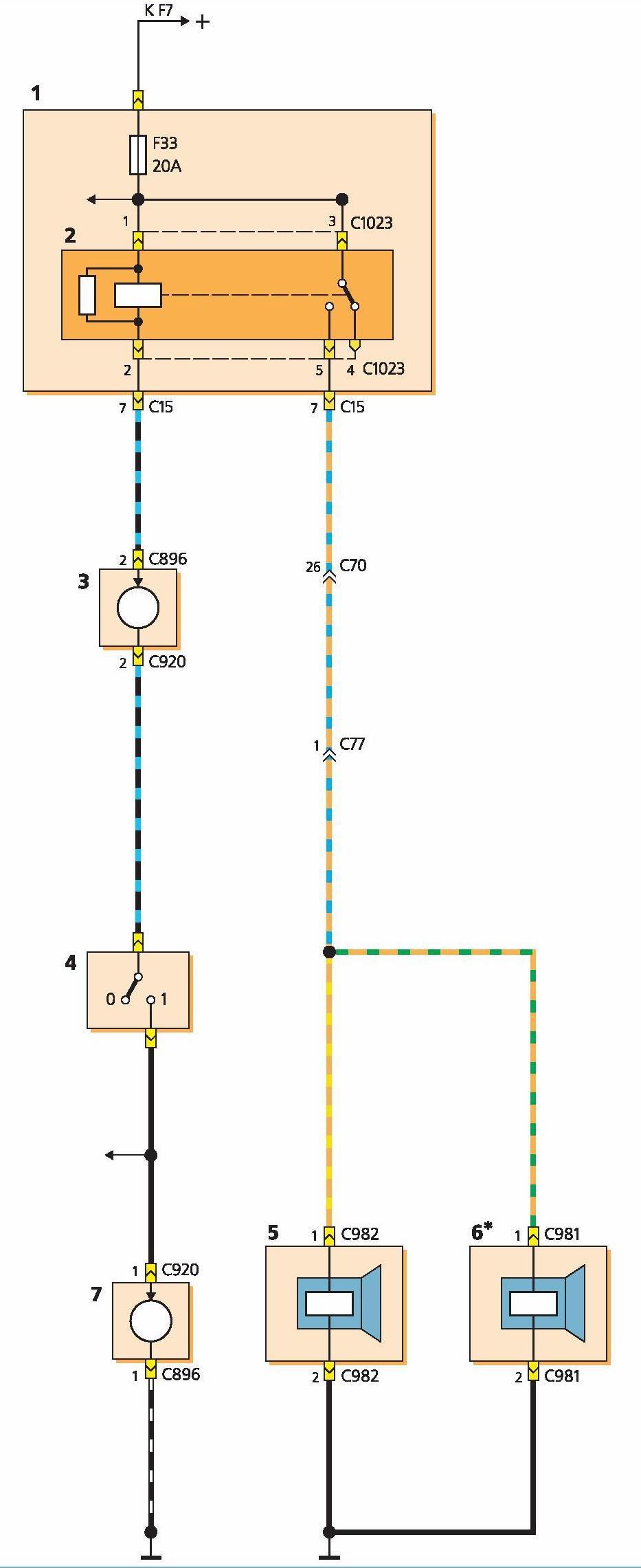 Подключение звуковых сигналов через реле схема6