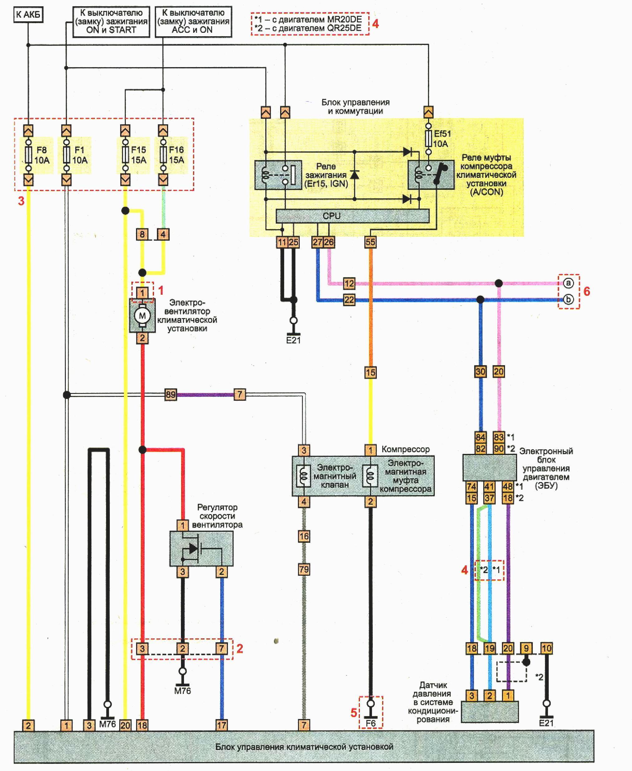 Схема блока управления nissan фото 3