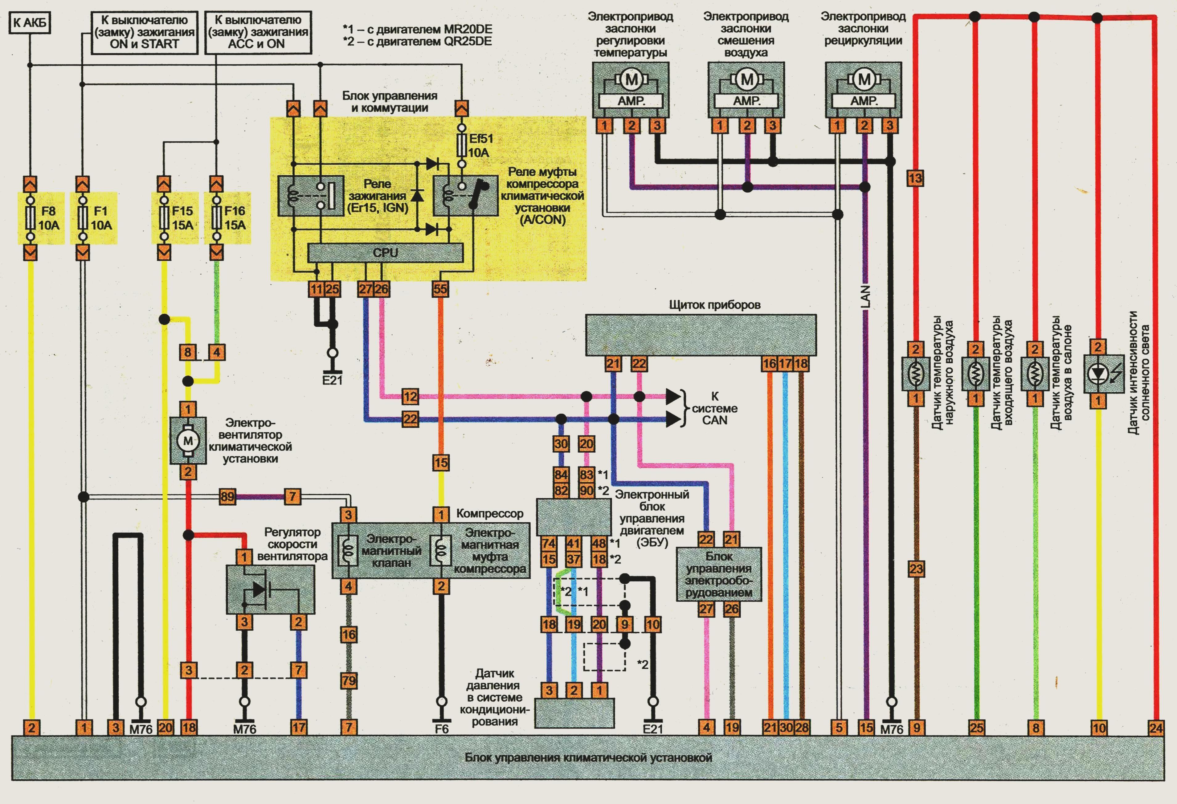 X trail схема электрическая фото 451