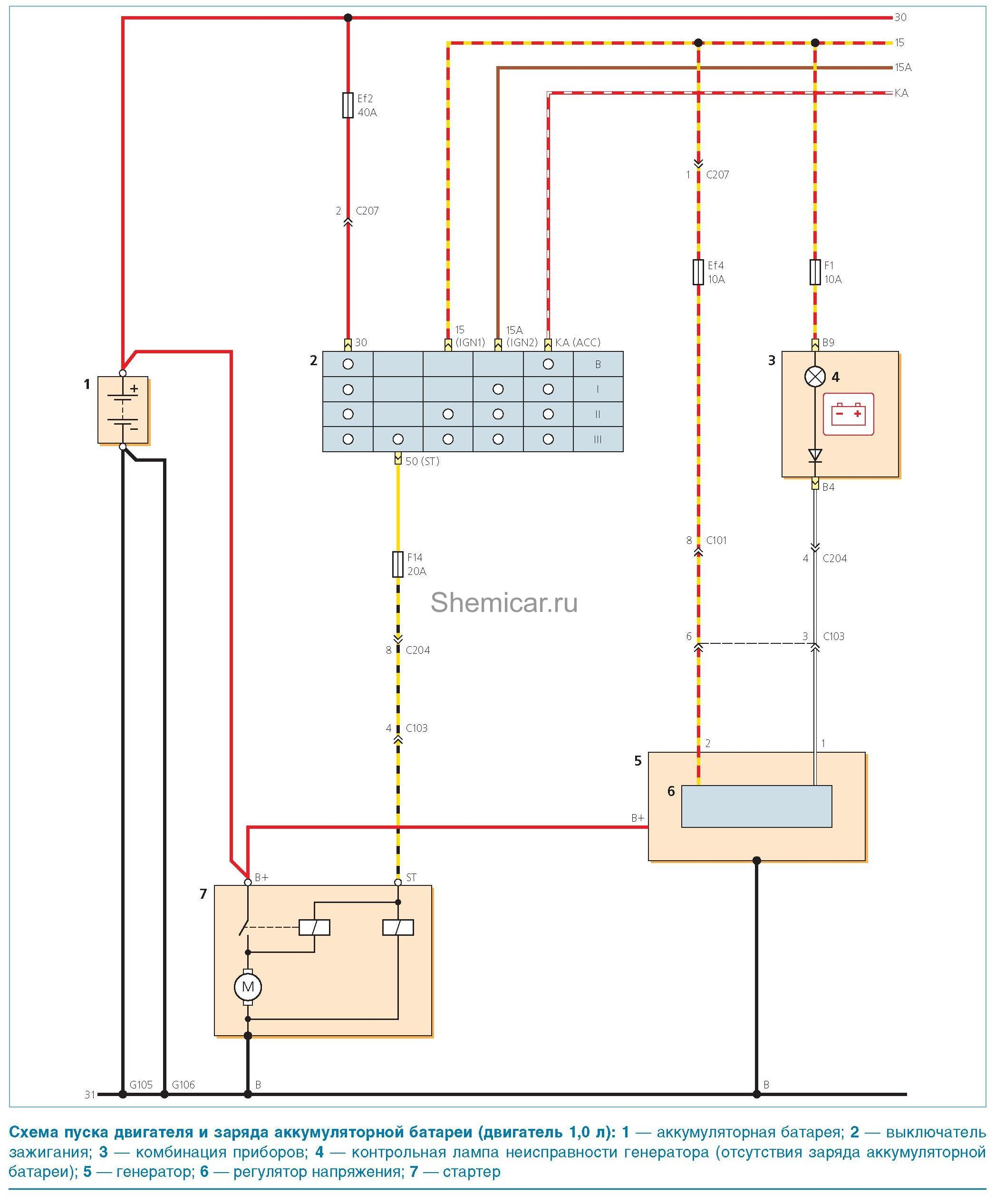 Электронная схема для дэу матиз