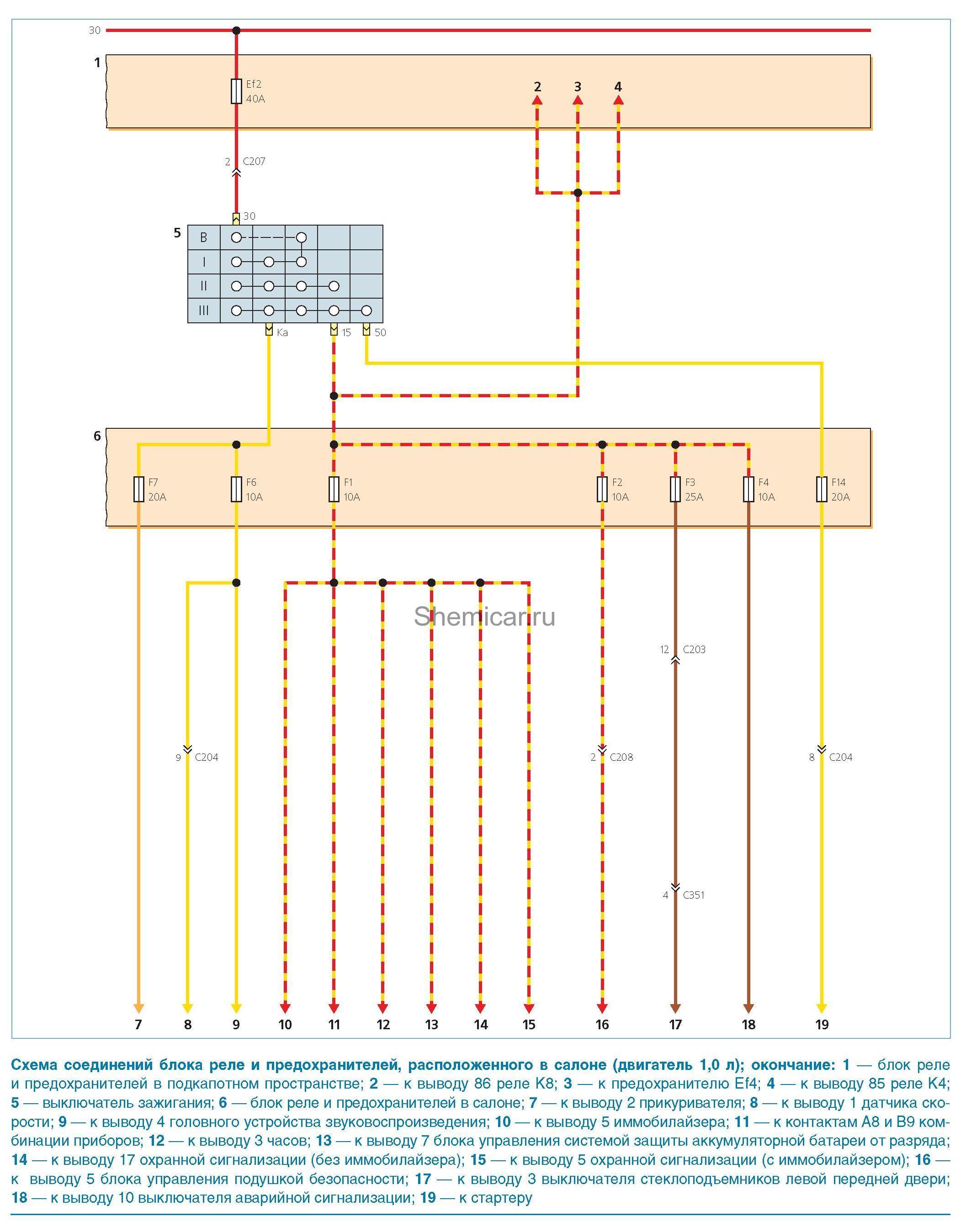Схема стартера дэу матиз
