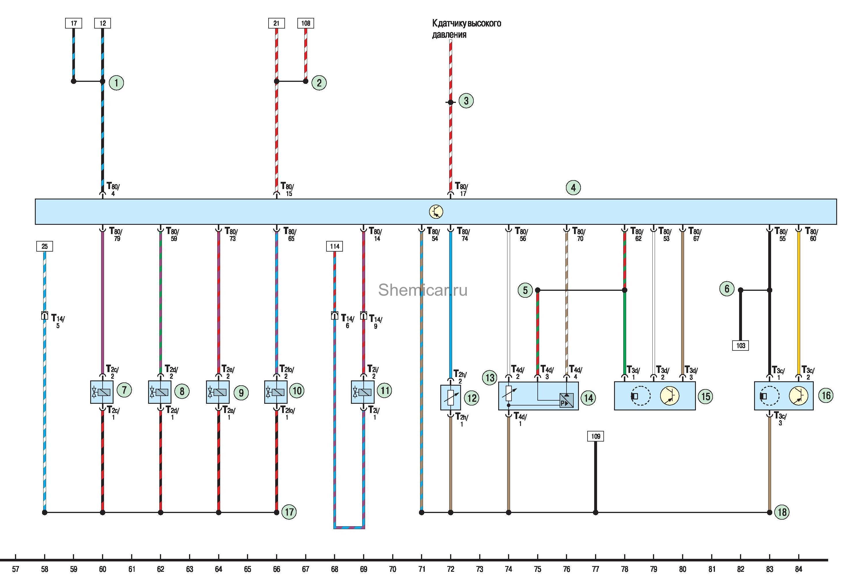 Схемы электрооборудования на фольксваген поло седан
