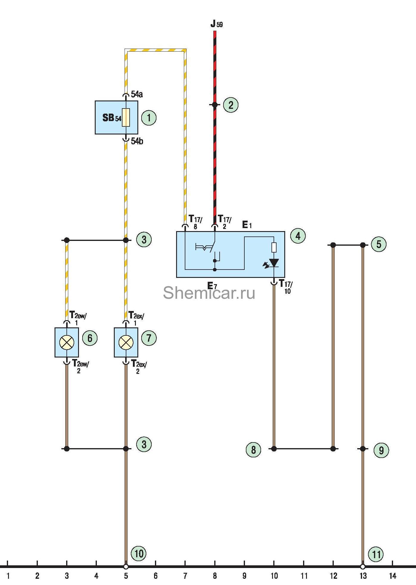 Схема кондиционирования поло седан